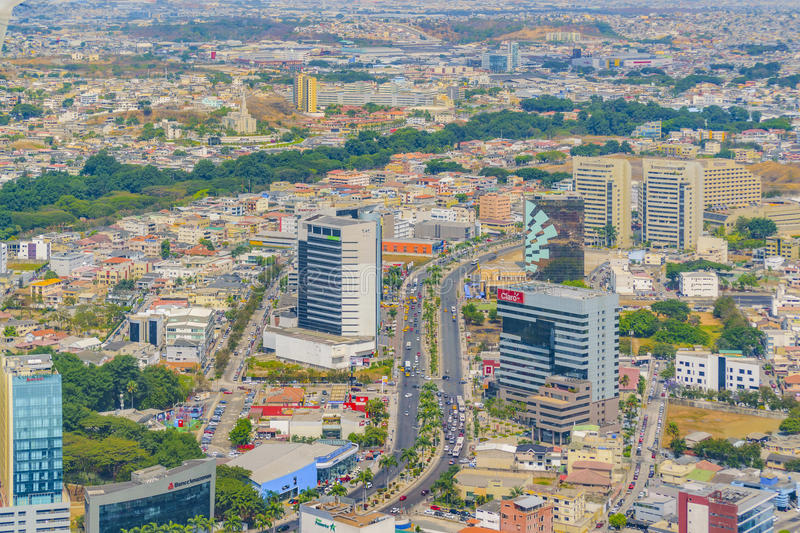 Download Guayaquil Aerial View From Window Plane Editorial Photography