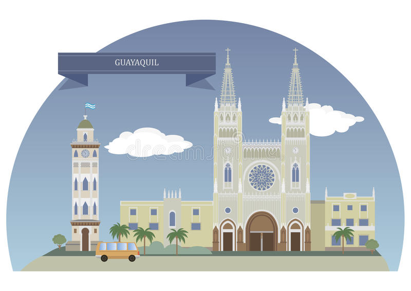 Guayaquil, Ecuador royalty free illustration