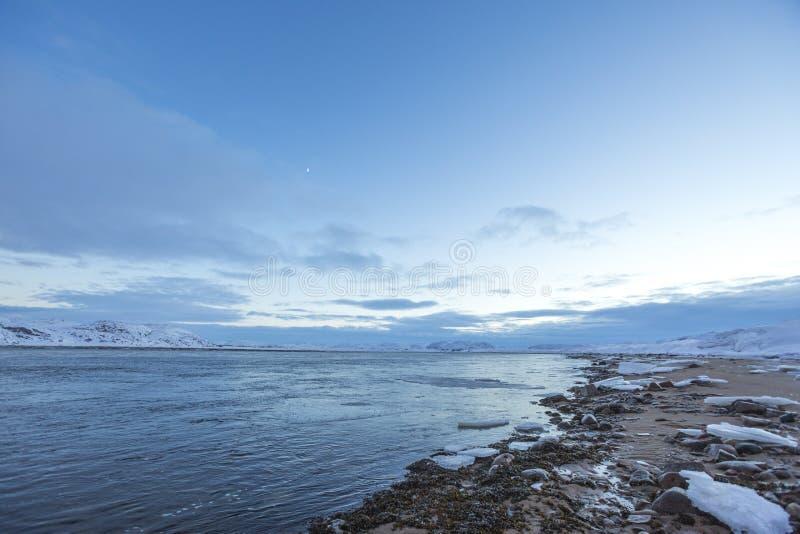 Guba Voronya, Barents morze Kola p??wysepu krajobraz obrazy royalty free