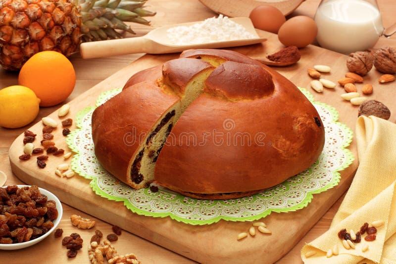 Gubana, ιταλικό γλυκό στοκ εικόνα με δικαίωμα ελεύθερης χρήσης