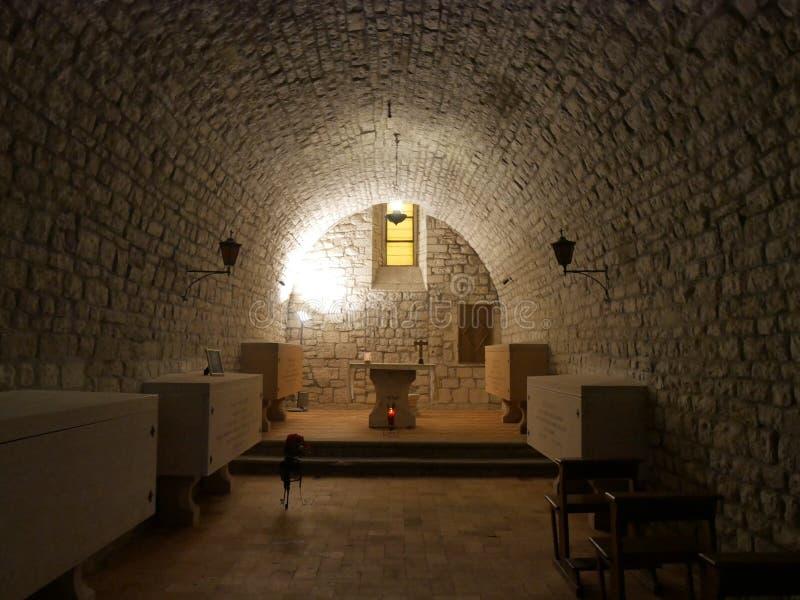Gubbio - καθεδρικός ναός του ST Marian και του ST James στοκ εικόνα με δικαίωμα ελεύθερης χρήσης