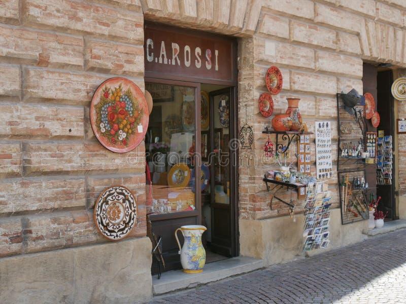 Gubbio - boutique typique images libres de droits