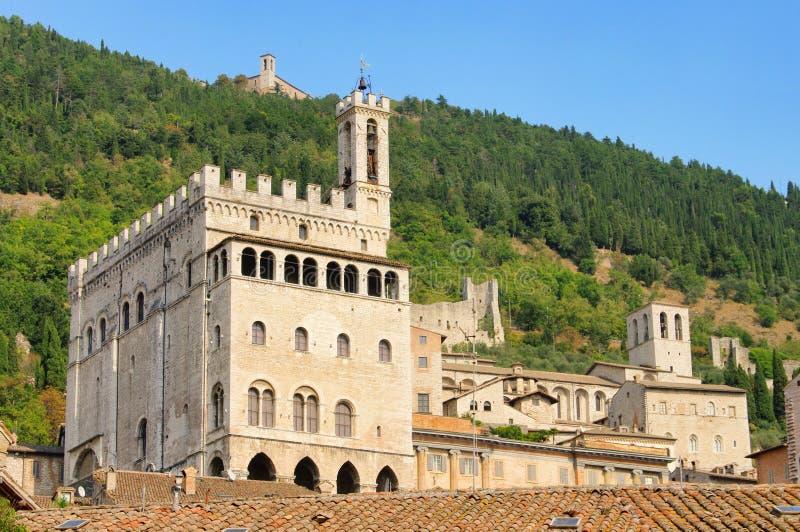Gubbio dei Palazzo Consoli obrazy stock