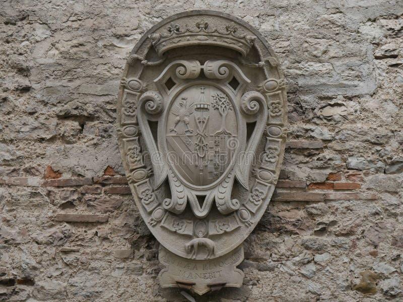 Gubbio - Hertogelijk paleis royalty-vrije stock afbeelding