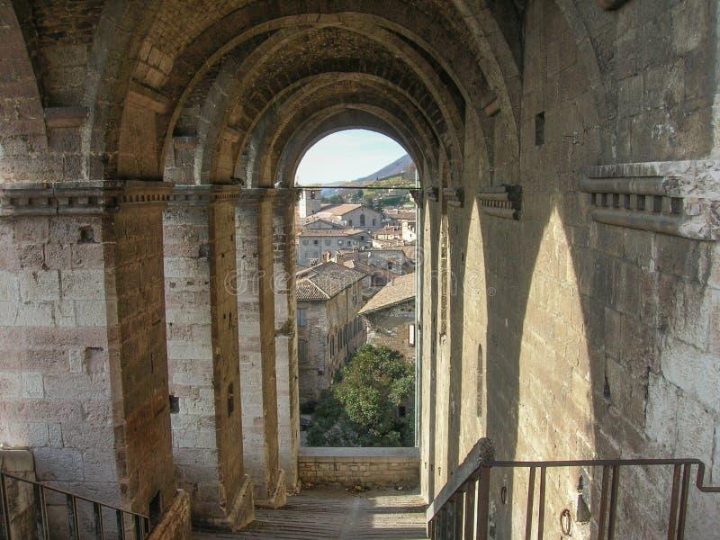 Gubbio Italia imagenes de archivo