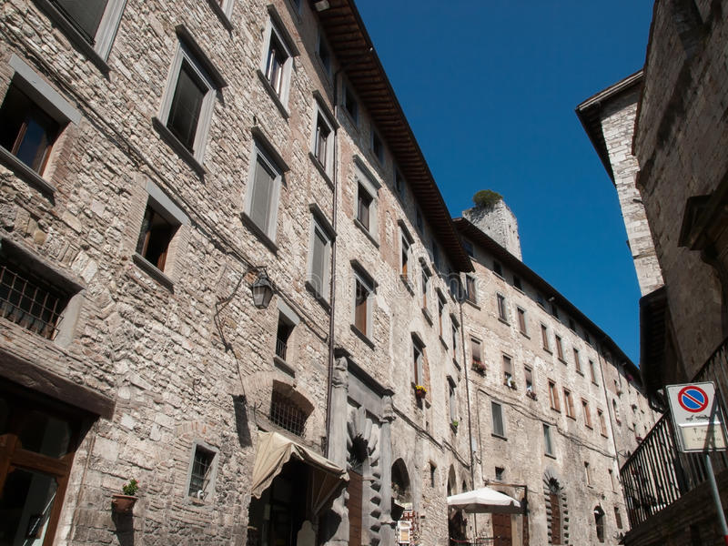 Download Gubbio-Italy stock image. Image of house, umbria, city - 26807137