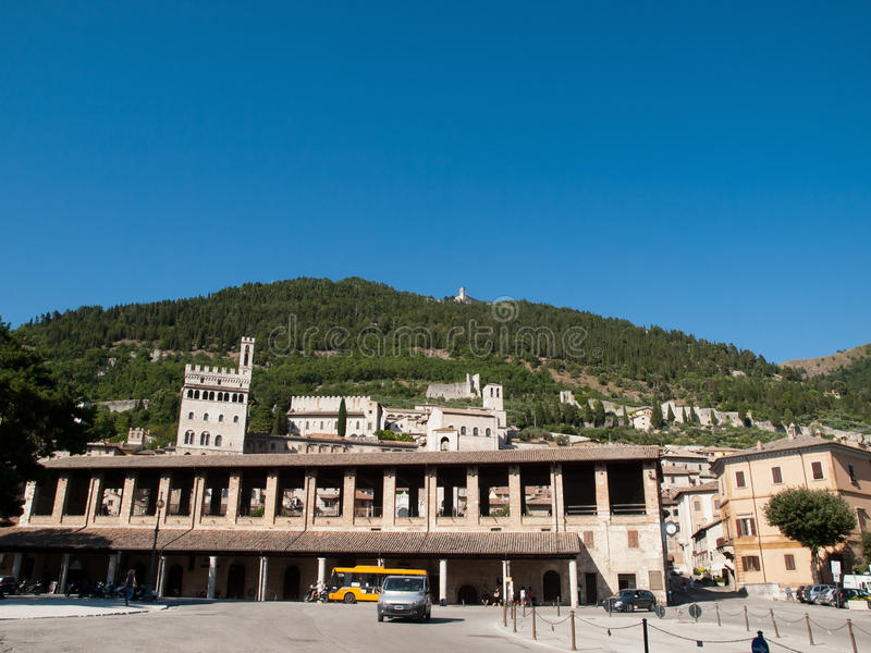 Download Gubbio-Italy stock image. Image of square, town, guild - 26842667