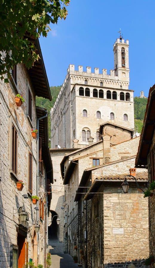 Download Gubbio Palazzo dei Consoli stock photo. Image of tower - 22584670