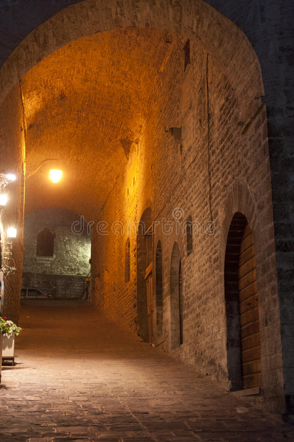 Download Gubbio (Perugia) stock image. Image of color, street - 23726409
