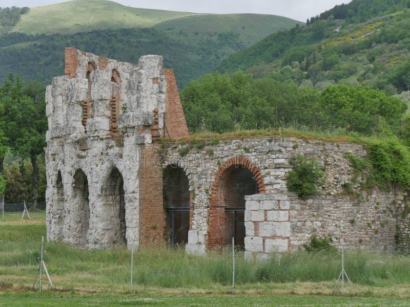 Gubbio - Roman Theater foto de stock