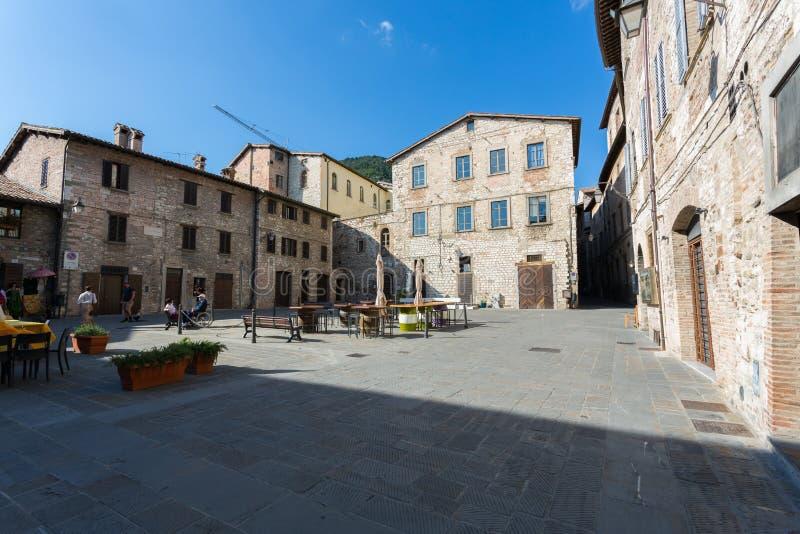 Gubbio, Umbria, Włochy - obraz stock