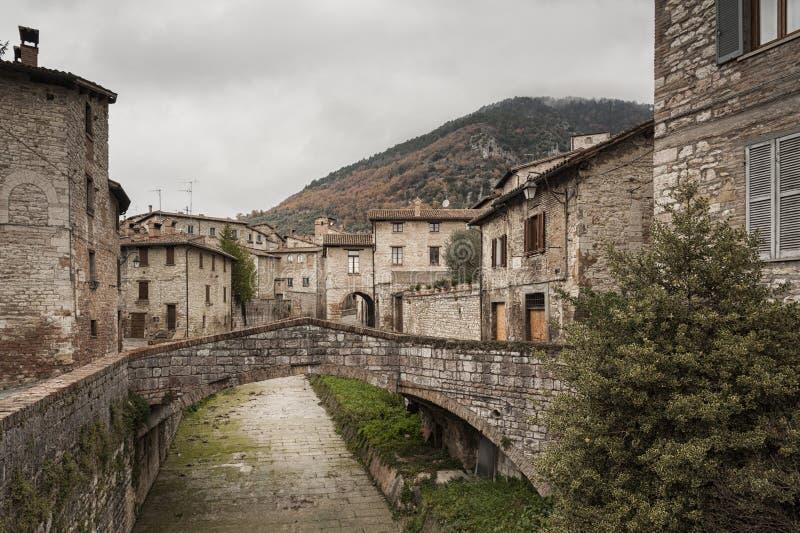 Gubbio, une des villes médiévales les plus belles en Europe, au coeur d'Umbria Region, province de Pérouse photo stock