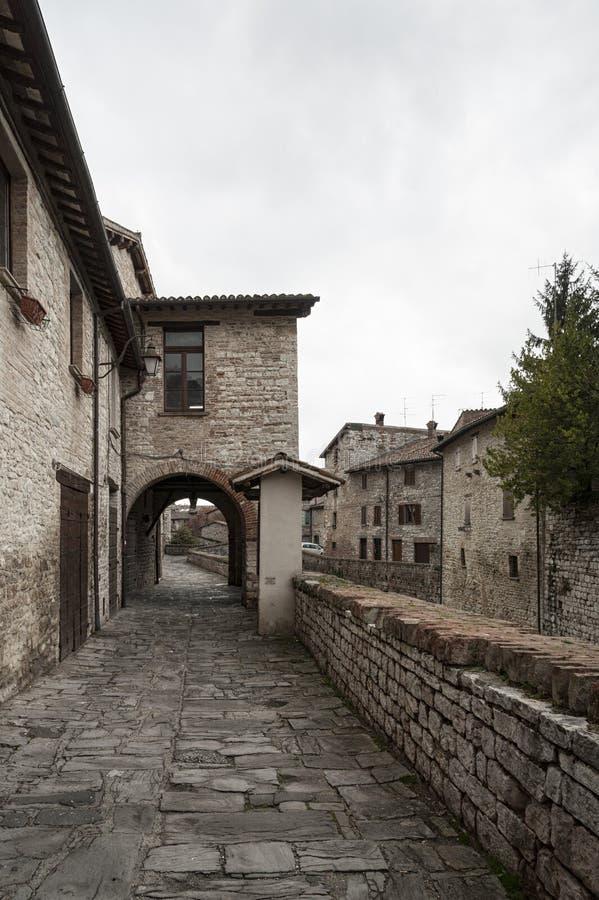 Gubbio, une des villes médiévales les plus belles en Europe, au coeur d'Umbria Region, province de Pérouse images stock