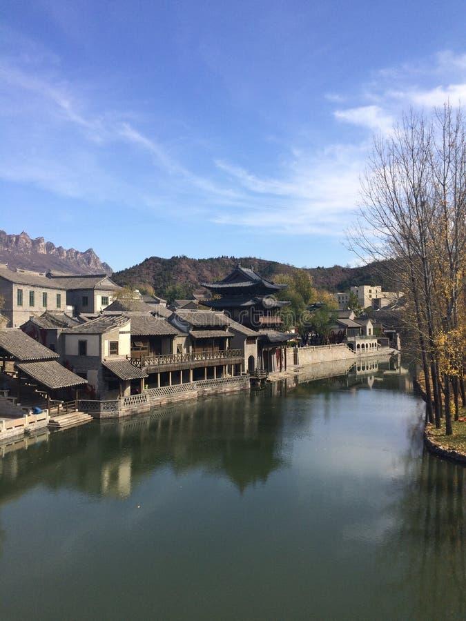 Gubei vattenstad, Miyun, Peking, Kina fotografering för bildbyråer