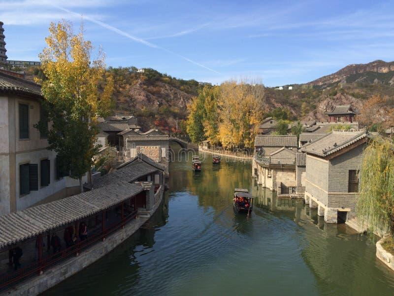 Gubei-Wasser-Stadt, Miyun, Peking, China stockfotografie