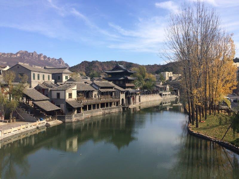 Gubei-Wasser-Stadt, Miyun, Peking, China stockbilder