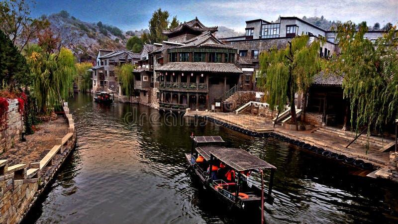 Gubei Watertown, Peking, Kina royaltyfria bilder