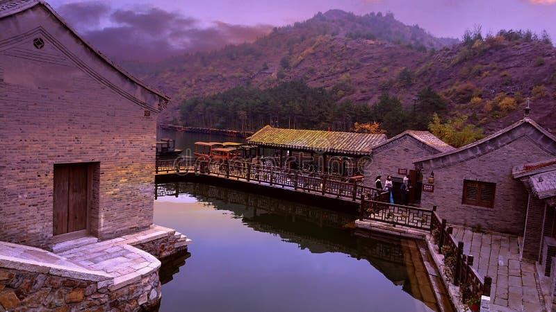 Gubei Watertown, Peking, Kina arkivfoton