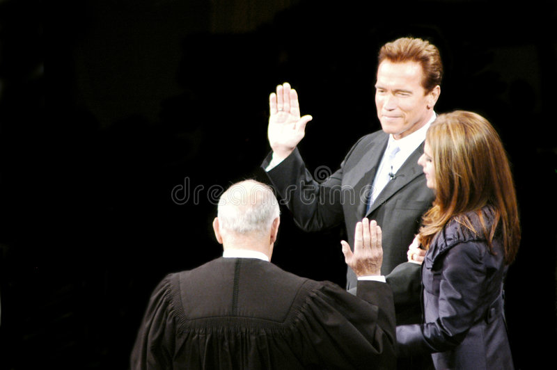 gubernator Schwarzenegger zdjęcie stock