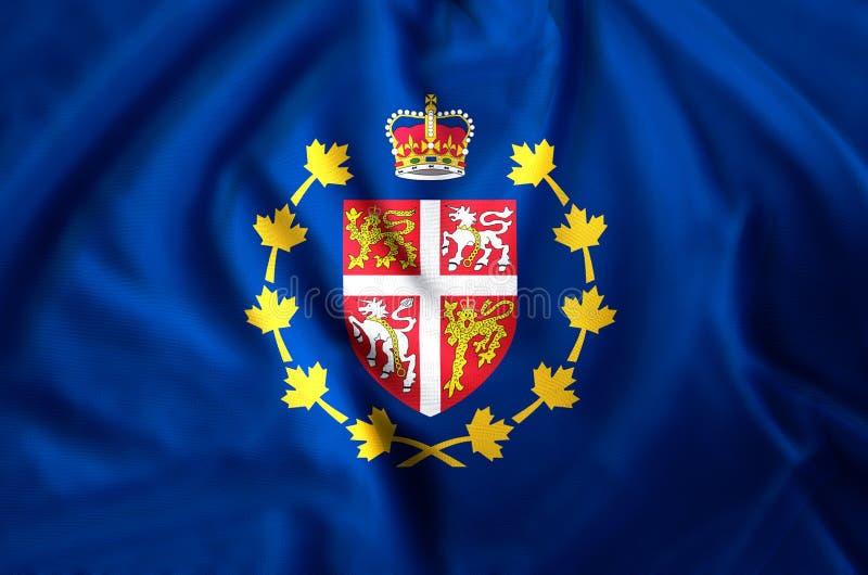 gubernator wodołazu, labradora zbliżenie flagi ilustracja I Doskonalić dla tła lub tekstury obrazy stock