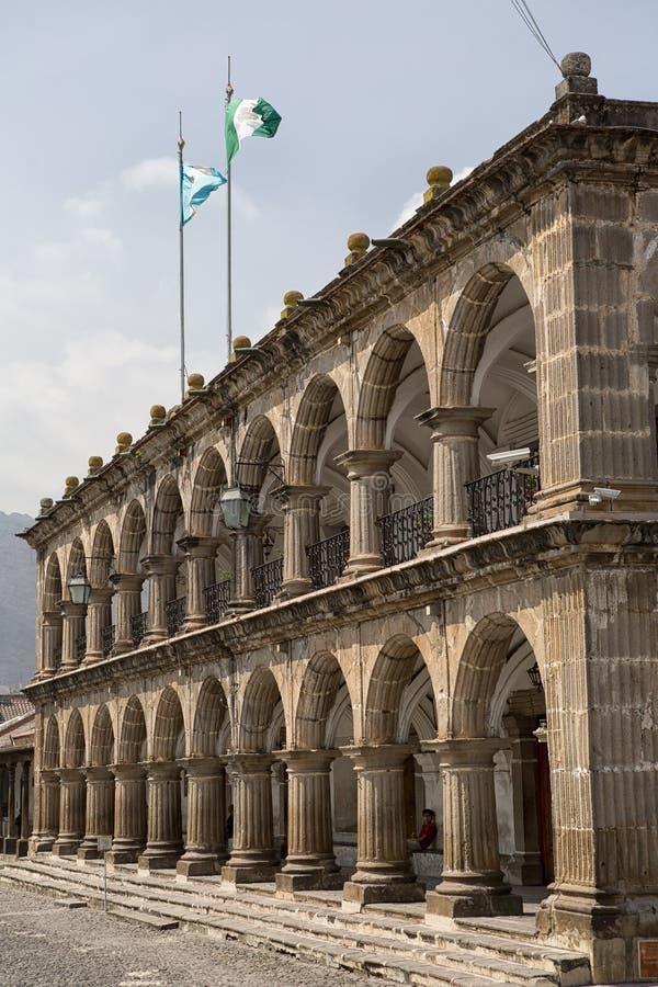 Gubernatora pałac Antigua Gwatemala obrazy royalty free