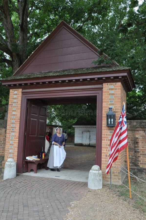 Gubernatora pałac w Wlliamsburg, Virginia fotografia royalty free