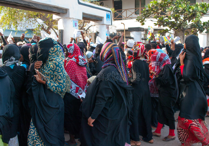 Gubernatorial electioneering in Lamu, Kenya stock images