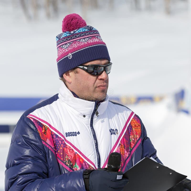 Guberniev Dmitry - Russian TV presenter, sports commentator royalty free stock images