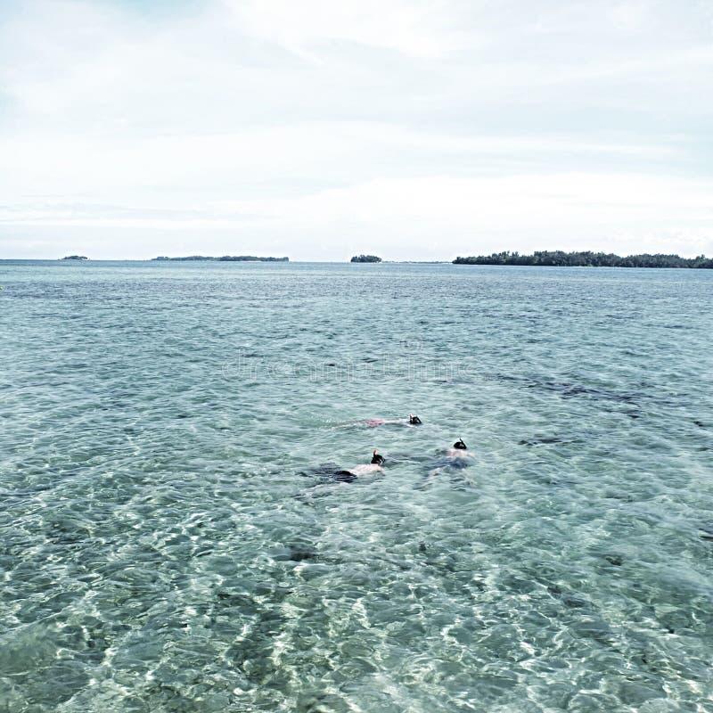 Gubjący w morzu fotografia stock