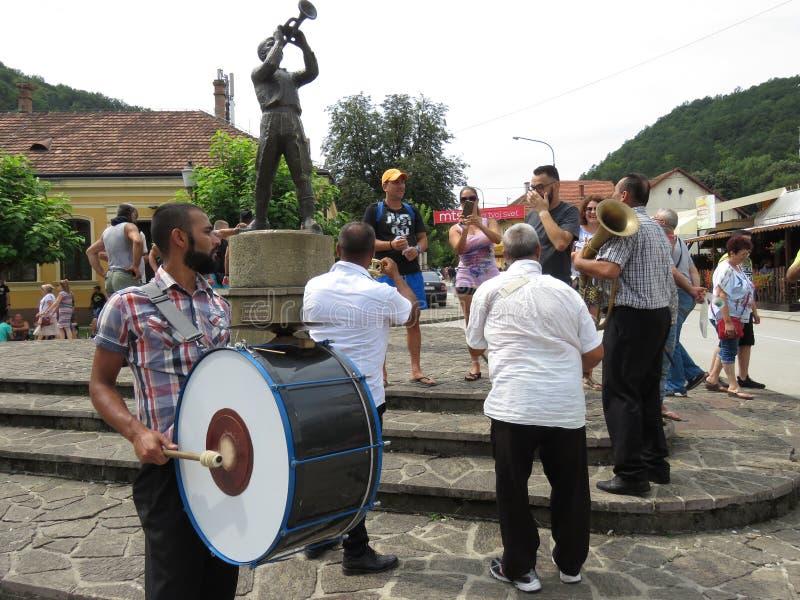 Guca trąbki festiwal 2018 obraz royalty free