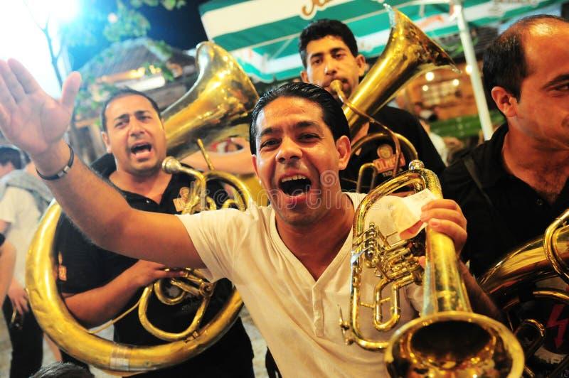 Guca trumpetfestival fotografering för bildbyråer