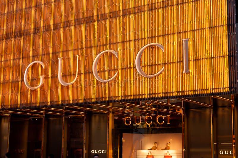 Gucci immagazzina immagine stock libera da diritti