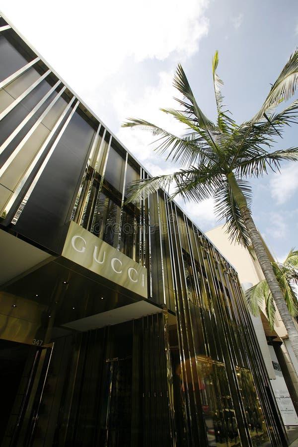 Gucci lager i Beverly Hills arkivbilder
