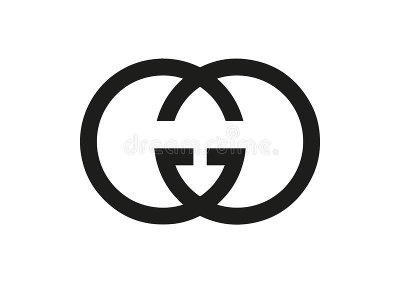 Gucci logo obrazy royalty free