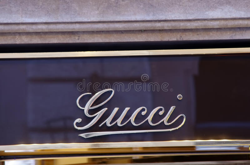 Download Gucci luxury shop editorial stock photo. Illustration of design - 19338043