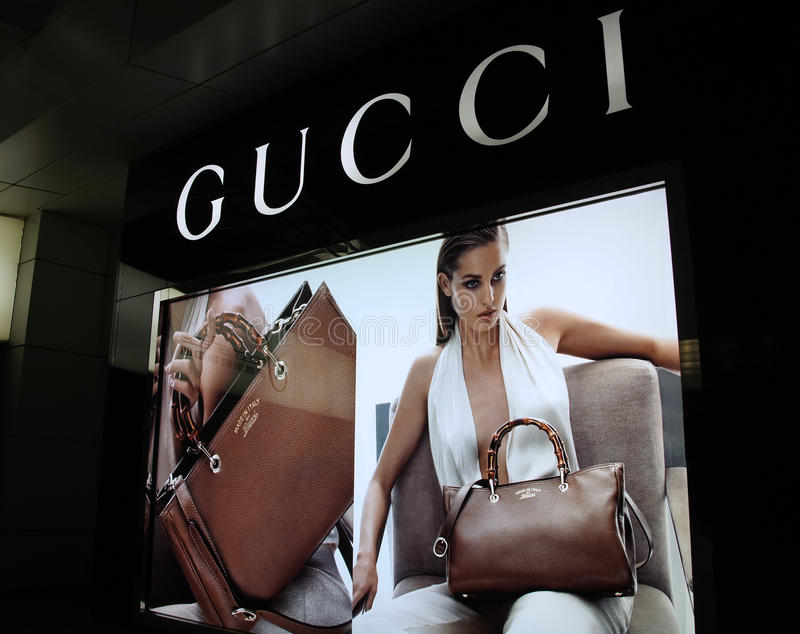 Gucci-manieropslag in China stock afbeeldingen