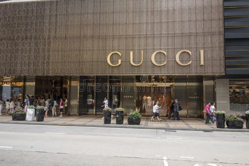 Gucci Sklep zdjęcia royalty free
