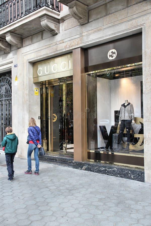 Gucci Sklep fotografia royalty free