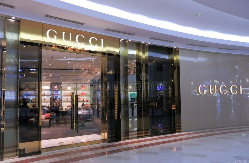 GUCCI sklep Kuala Lumpur obrazy royalty free