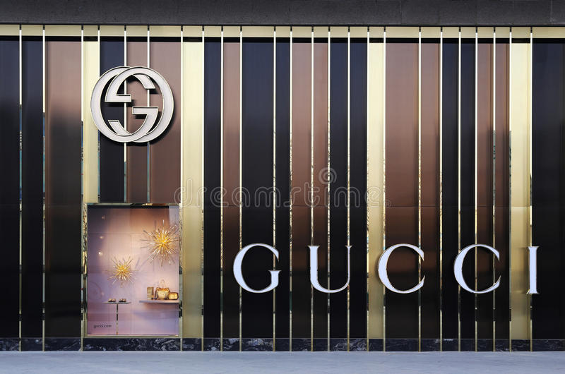 GUCCI-vlaggeschipopslag stock foto