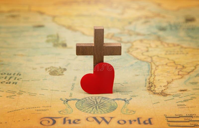 gud älskad värld arkivfoto