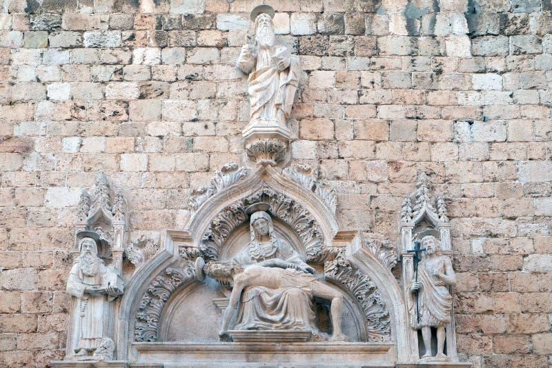 Gud fadern, St Jerome, vår dam av sorg och St John det baptistiskt royaltyfri bild