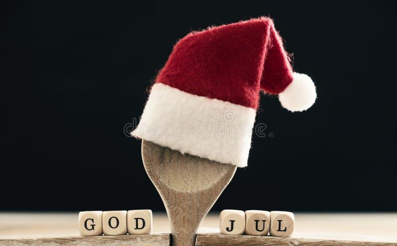 Gud Juli, skandinavisk glad jul arkivfoto