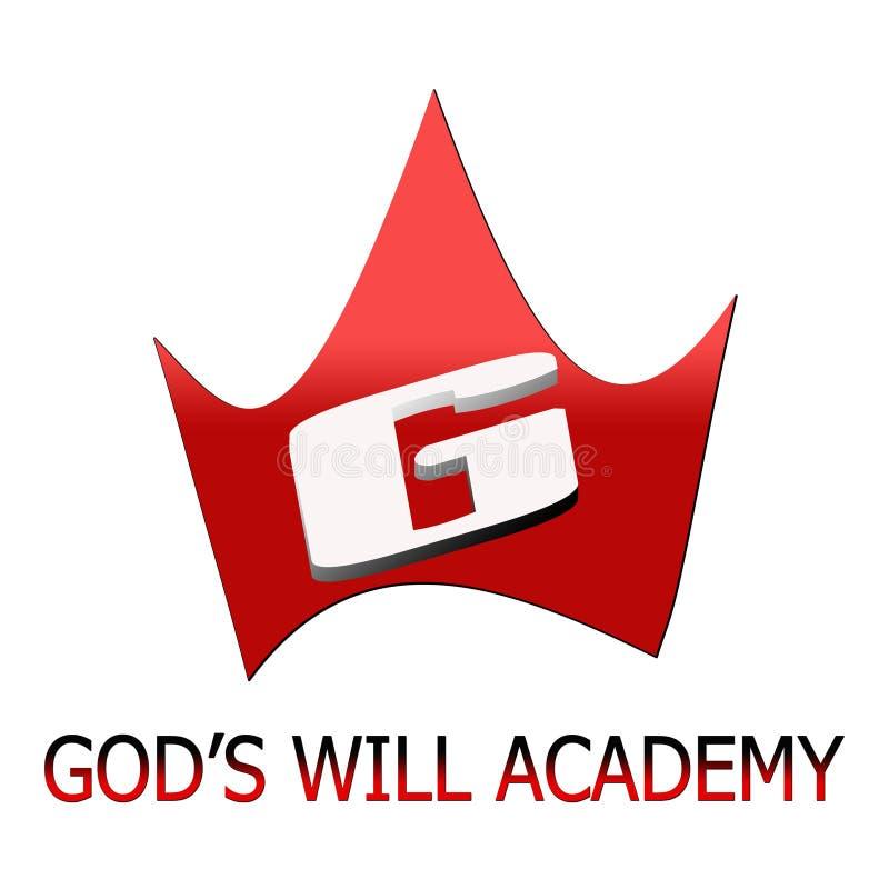 Gud` s skallr akademin royaltyfri illustrationer
