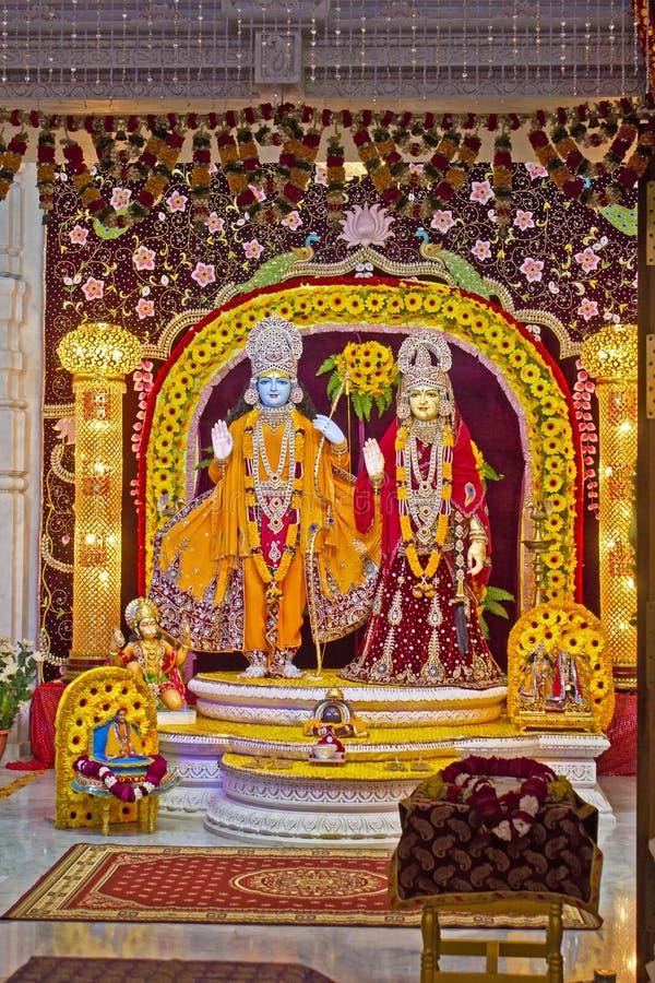 Gudar av Sita och Rama arkivfoto