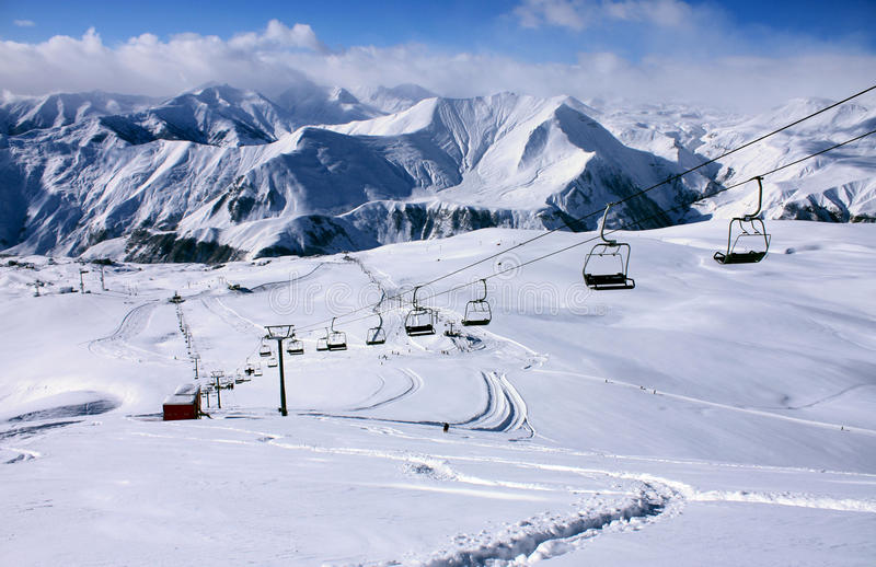 Gudauri ski resort stock photos