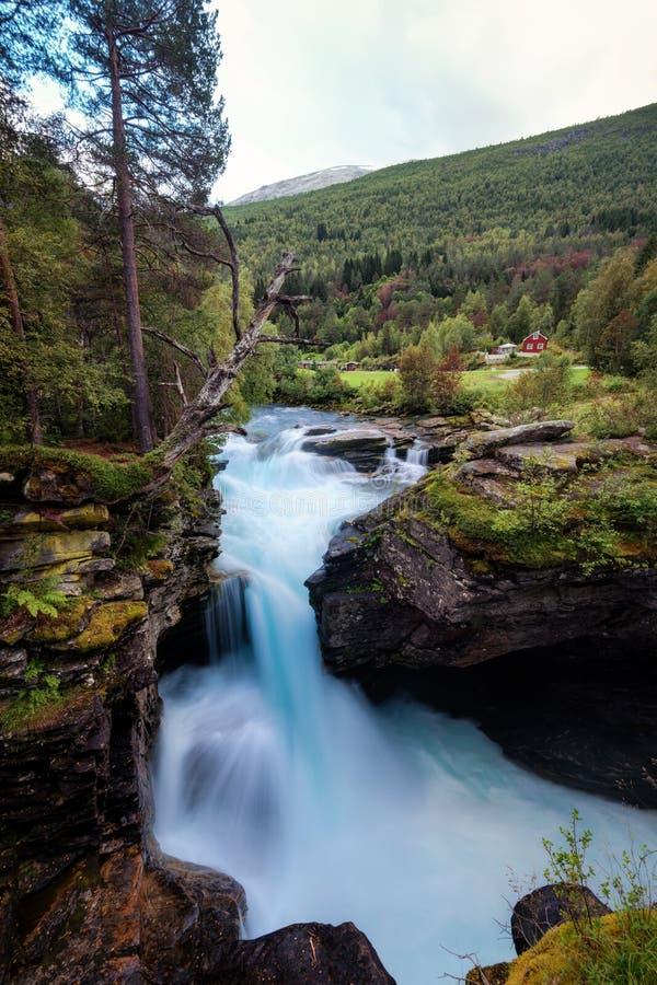 Gudbrandsjuvet Norvegia fotografia stock libera da diritti