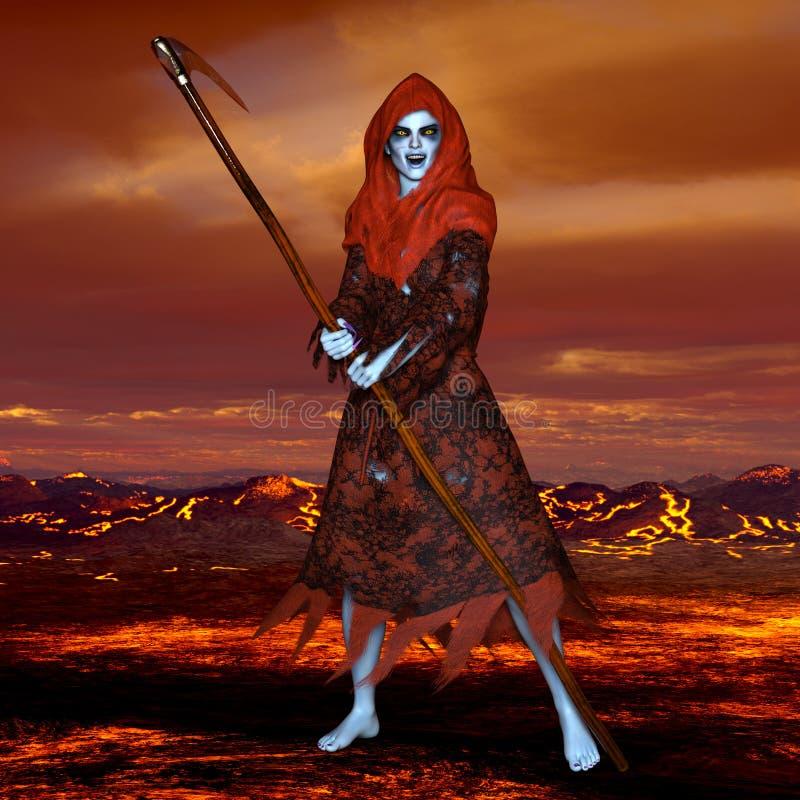 Guden av död royaltyfri illustrationer