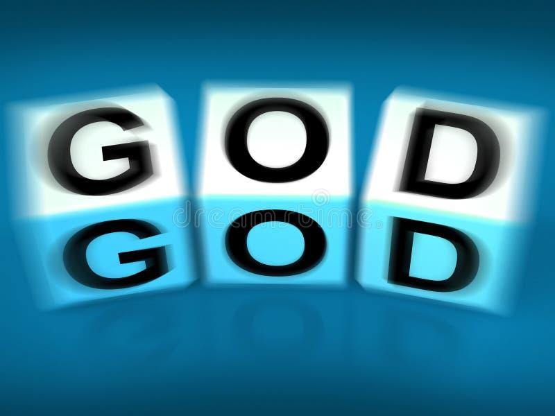 Guden blockerar skärmgudgudar eller helighet vektor illustrationer
