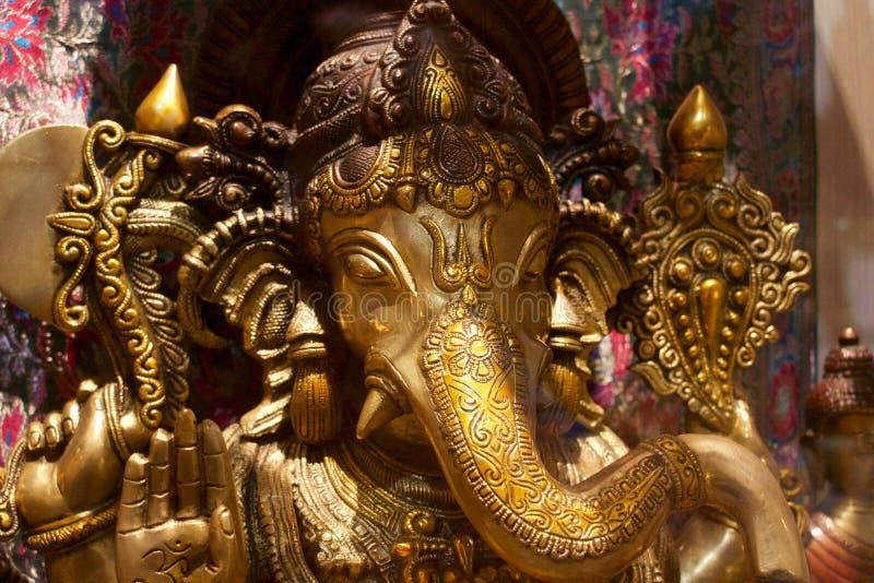 Gudganesh för indisk elefant fotografering för bildbyråer